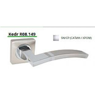 Купить ручку дверную на квадратной розетке R08.149-AL-SN/CP