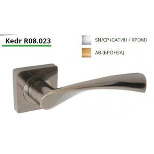 Купить ручку дверную на квадратной розетке R08.023-AL-AB, AL-SN/CP