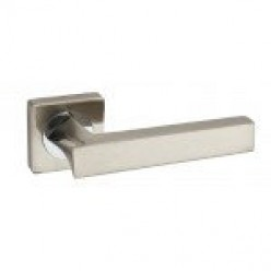 Ручка дверная на квадратной розетке R08.157-AL-AB, SN/CP