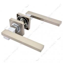 Ручка дверная на квадратной розетке R08.150-AL-SN/CP
