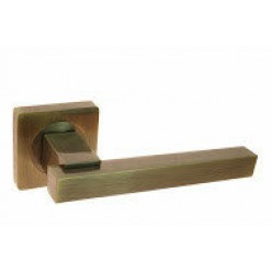 Ручка дверная на квадратной розетке R08.103-AL-AB, AL-SN/CP