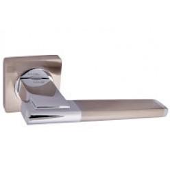 Ручка дверная на квадратной розетке R08.142-AL-AB,SN/CP/Graffit