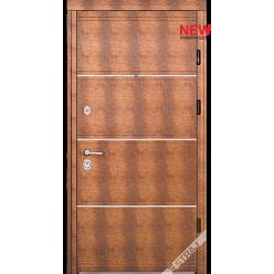 Дверь входная металлическая Мела D кожа золото темное