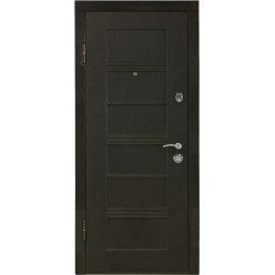 Дверь входная металлическая ПК-26.ц. скол черный/ белый мдф 16 мм