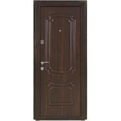 Дверь входная металлическая ПО-01 орех коньячный