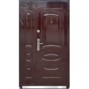 Дверь полуторная входная металлическая ТР-С 31 автолак вишня