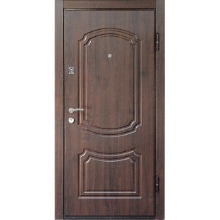 Дверь входная металлическая 901 коньячный орех