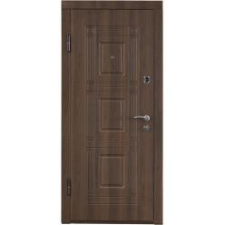 Дверь входная металлическая ПО-02 орех белоцерковский
