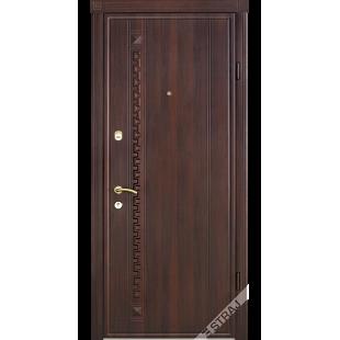 Дверь входная металлическая 49 орех темный