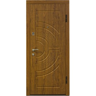 Дверь входная металлическая ПО-08 дуб золотой