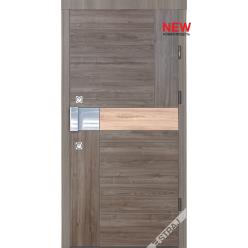 Дверь входная металлическая Карэ каштан гринс коричневый