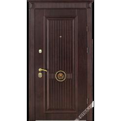 Дверь входная металлическая Лацио орех шоколад