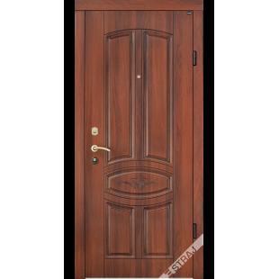 Дверь входная металлическая Модель В60 орех светлый