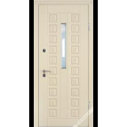 Дверь входная металлическая R 22 Коста vin слоновая кость