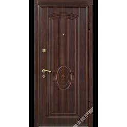 Дверь входная металлическая 56 орех темный