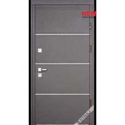 Дверь входная металлическая Мела D кожа темная