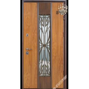 Дверь входная металлическая Цезарь Proof vin дуб золотой PF