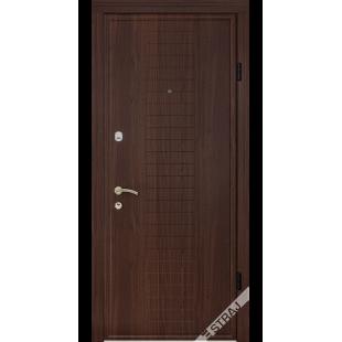 Дверь входная металлическая Модель В102 орех темный