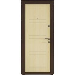 Дверь входная металлическая ПО-09 / беленый дуб
