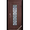 Дверь входная металлическая Лумина орех шоколад