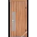 Дверь входная металлическая Паола вишня малого тиснения