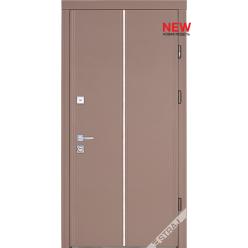 Дверь входная металлическая Мела В кожа бежевая