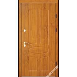 Дверь входная металлическая Модель В60 шпон дуб натур.