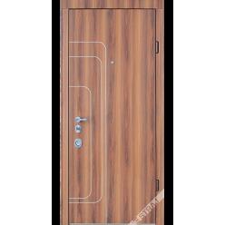 Дверь входная металлическая Трэк ясень коричневый