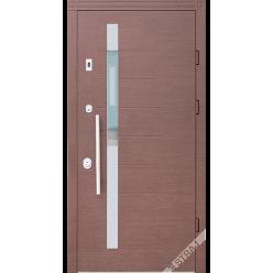Дверь входная металлическая Дельта Коста vin корица горизонт
