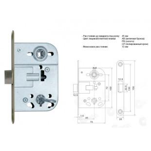 Купить дверной замок врезной  NS 410B-AB PVC(CP,PB)