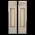 Ручки для раздвижной двери ПРЯМОУГОЛЬНАЯ без замка KEDR SN (AB)