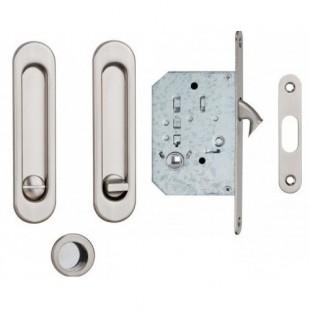 Ручки для раздвижной двери с замком USK (BN) (к-т)
